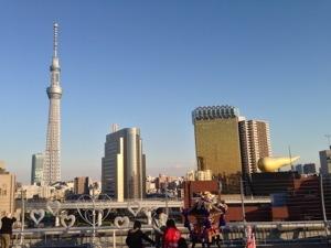 โตเกียวสกายทรี มองจากริมแม่น้ำสุมิดะ