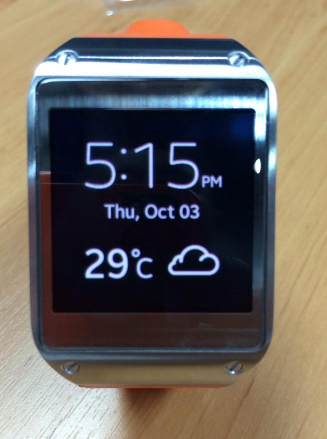 หน้าตาแบบนาฬิกาดิจิตอล บอกเวลา วันที่ สภาพอากาศได้ด้วย